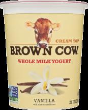 Brown Cow Assorted Yogurt 32 oz product image.