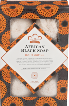NUBIAN HERITAGE African Black Soap 12 oz Bath Bombs product image.