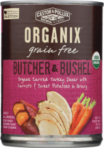 Castor & Pollux Organic Organix Butcher & Bushel Dog Food product image.