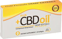 CBD Oil Gold Formula 15 mg Softgels product image.