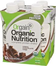 Orgain® Chocolate Fudge Shake 4 pk product image.
