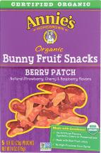 Organic Bunny Fruit Snacks  product image.