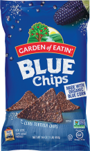 Organic Blue Corn Chips product image.