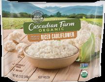 Organic Riced Cauliflower product image.