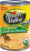 Health Valley Assorted Canned Creamy Soup 14.5 oz product image.