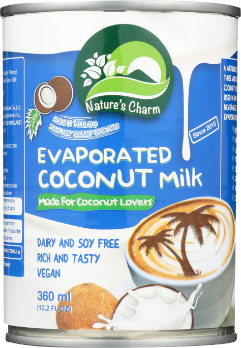 Natures Charm Evaporated Coconut Milk 12.2 oz product image.