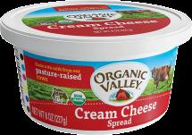 Organic Cream Cheese Tub product image.