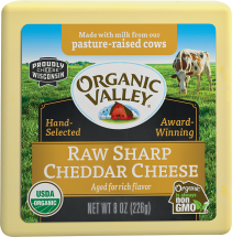 Organic Raw Sharp Cheddar Cheese product image.