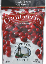 Cape Cod Select Assorted Frozen Cranberries 16 oz product image.