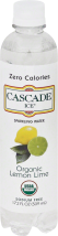 Cascade Ice Sparkling Water Organic Lemon Lime Sparkling Water 17.2 oz product image.