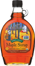 Organic Grade A Dark Robust Maple Syrup product image.