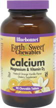 Earth Sweet Chewable Calcium, Magnesium & Vitamin D3 product image.