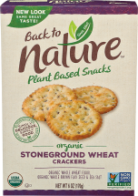 Organic Stoneground Wheat Crackers product image.